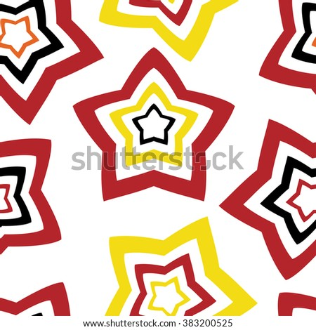 Seamless vector wallpaper. repetitive print with stars - stock vector