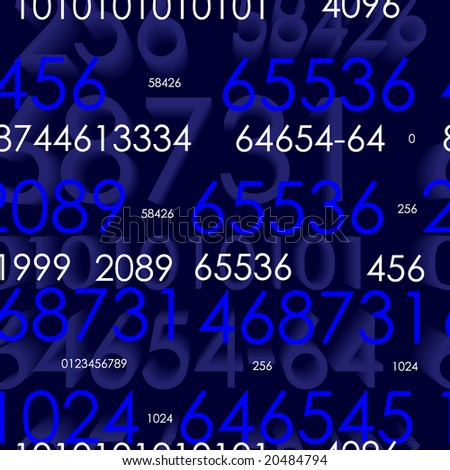 Seamless vector wallpaper with numbers