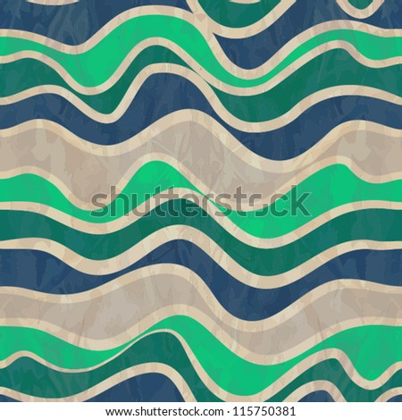 seamless vector waves texture - stock vector