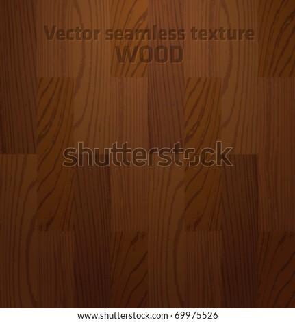 Seamless vector wooden texture - stock vector