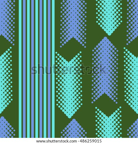 Seamless vertical arrows  pattern with stripes .