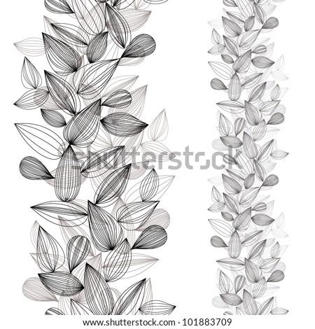 Seamless vertical vector background, design pattern. - stock vector