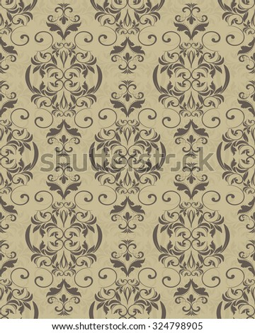 seamless Victorian wallpaper. Seamless Pattern Victorian Motives Endless Pattern Stock Vector