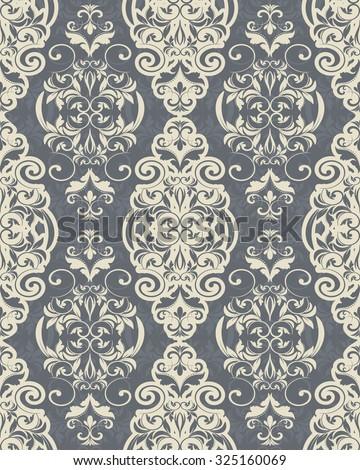 seamless Victorian wallpaper - stock vector