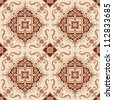 Seamless Vintage Background - Victorian Tile in vector - stock vector