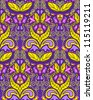 Seamless vintage colorful pattern, vector illustration - stock vector
