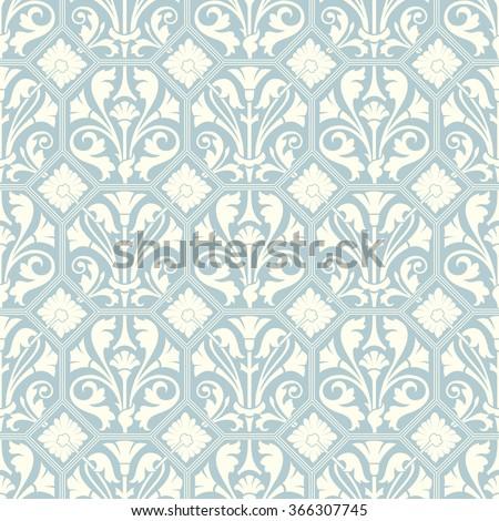 Seamless vintage ornament. Vector illustration. - stock vector