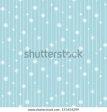 Seamless vintage pattern from snowflakes. Christmas and New Year design. Vector illustration - stock vector