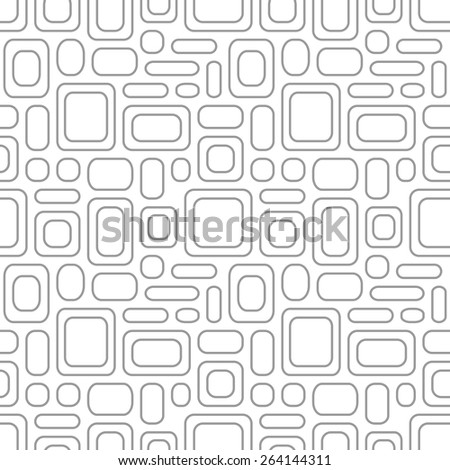 Seamless vintage pattern. Geometric vector textured light gray background eps8 - stock vector