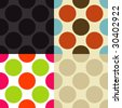 Seamless vintage pattern in different color sets. - stock