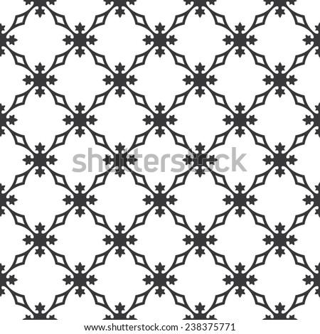Seamless vintage revival geometric pattern vector - stock vector