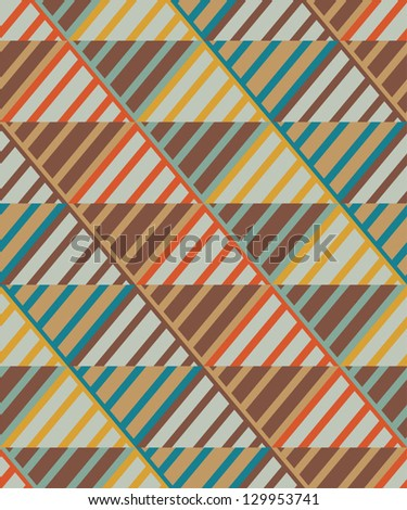 Seamless vintage stripes pattern - stock vector