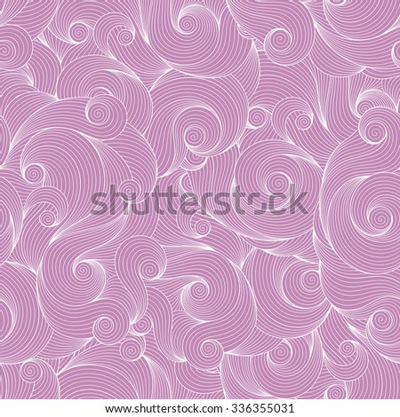 Seamless violet abstract hand-drawn waves pattern, wavy background. Seamless pattern can be used for wallpaper, pattern fills, web page background,surface textures.