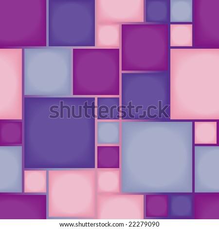 Seamless violet tile pattern - stock vector