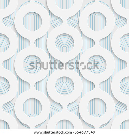 Seamless Volume Damask Pattern. Abstract Technology Background. Modern Wallpaper