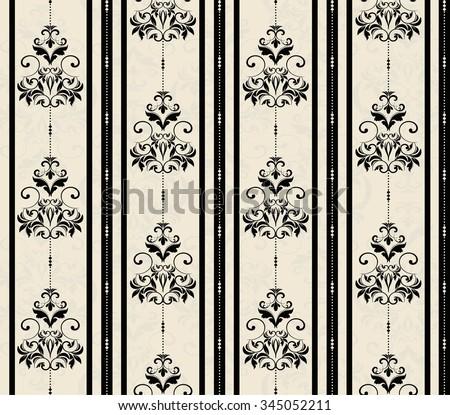 seamless wallpaper - stock vector
