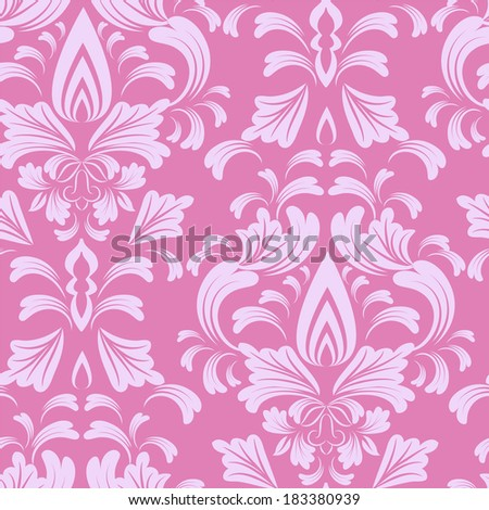 seamless wallpaper.damask pattern.floral background - stock vector