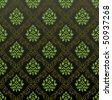 Seamless Wallpaper floral green. Vector illustration - stock vector