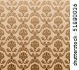 seamless wallpaper old decorative vintage - vector background - stock vector