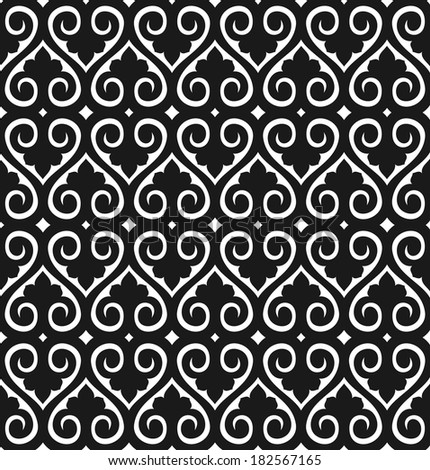 Seamless wallpaper pattern - stock vector