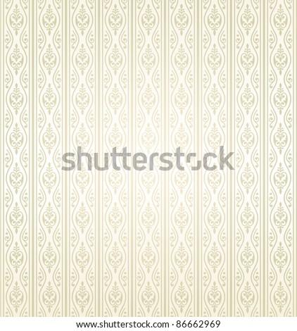 seamless wallpaper pattern - stock vector
