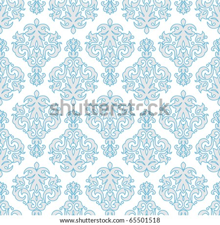 Seamless  wallpaper pattern in  vintage style - stock vector