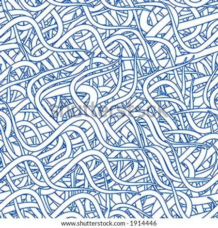 Seamless wallpaper pattern - vector - stock vector