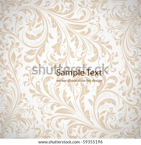 Seamless wallpaper pattern, white - stock vector