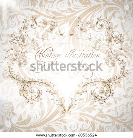 Seamless wallpaper pattern with frame, white - stock vector