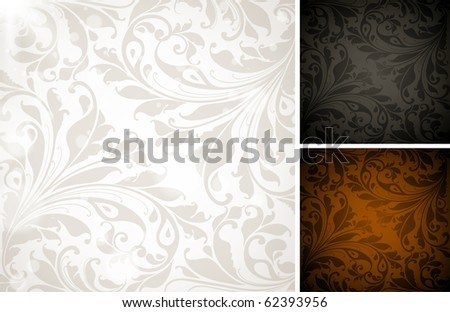 Seamless Wallpaper set, Vector Colorful Background - stock vector