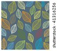 Seamless wallpaper with leaves. Vector. - stock vector