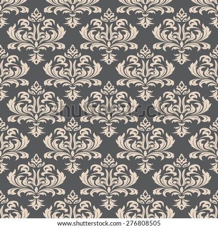Seamless wallpapers in the style of Baroque . Can be used for backgrounds and page fill web design. Vector illustration - stock vector