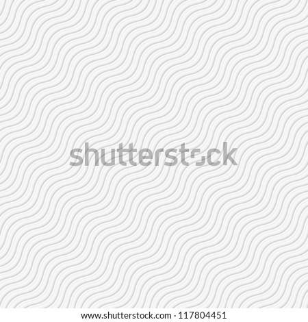 Seamless wave tile white - stock vector