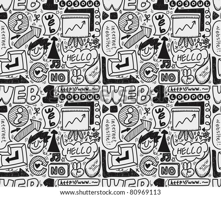 seamless web pattern - stock vector