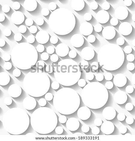 Seamless white origami pattern with random circles. Eps10