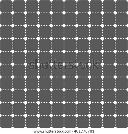 seamless white polka dot pattern on black background/ cute pattern / vector - stock vector