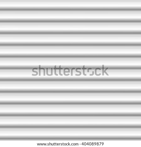 Seamless white striped background - embossed surface, 3D effect, vector illustration