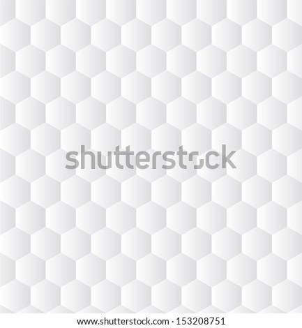 Seamless White Texture of Hexagons - stock vector