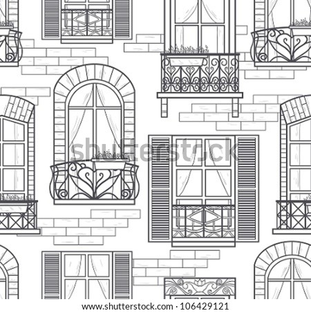 seamless windows seamless pattern - stock vector