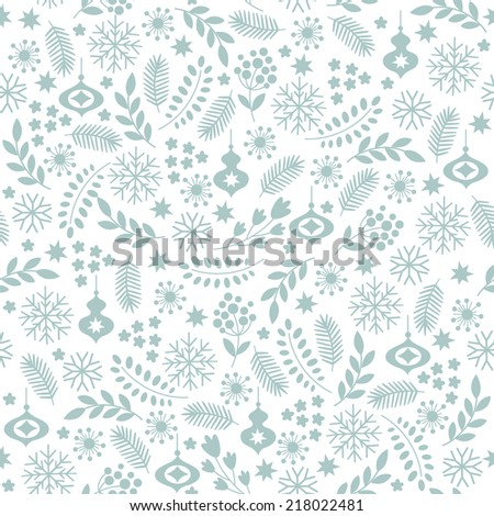 Seamless winter background - stock vector
