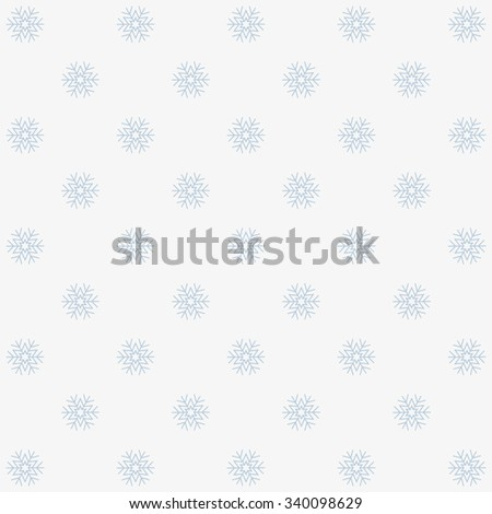 Seamless winter background with snowflakes. vector design - stock vector