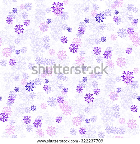 Seamless winter background with snowflakes. Vector illustration. - stock vector