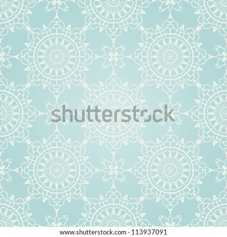 Seamless winter ornament for Christmas design. EPS 8 vector illustration. - stock vector