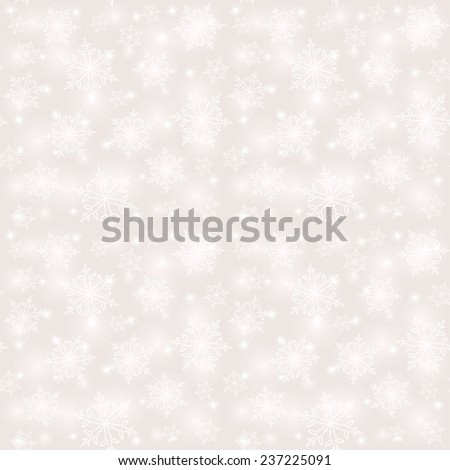 Seamless winter pattern with snowflakes - stock vector
