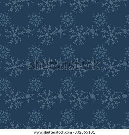 Seamless winter texture. Winter background. Christmas template. Hand drawn snowflakes.