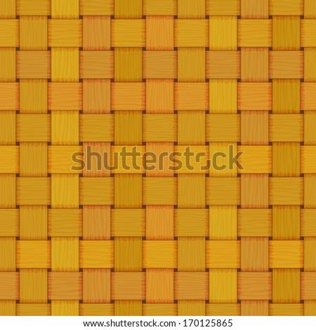 seamless woven wicker rail fence texture - stock vector