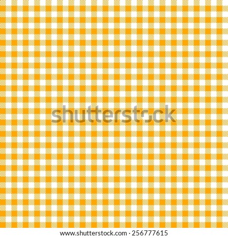 Seamless yellow checkered tablecloth pattern - stock vector