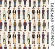 seamless young man pattern - stock vector