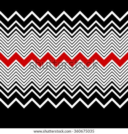 Seamless Zig Zag Pattern. Vector Abstract Background - stock vector