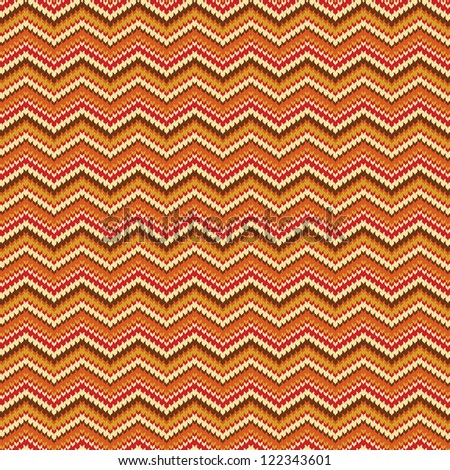 Seamless zig zag striped background with spokes knitted pattern - stock vector